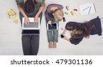 modern family   media addiction | Shutterstock . vector #479301136