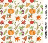 thanksgiving seamless pattern... | Shutterstock .eps vector #479302732