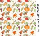 thanksgiving seamless pattern... | Shutterstock .eps vector #479302732