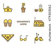 grandmother's home. set of flat ...   Shutterstock .eps vector #479303062