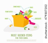 food donation box concept... | Shutterstock .eps vector #479307202