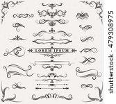 ornate frames and scroll... | Shutterstock .eps vector #479308975