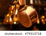 copper kitchenware  pots  pans  ... | Shutterstock . vector #479313718