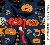 seamless pattern for halloween... | Shutterstock .eps vector #479317492