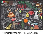 mexico hand drawn sketch set... | Shutterstock .eps vector #479323102
