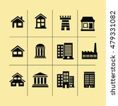 houses icons set. real estate.... | Shutterstock .eps vector #479331082