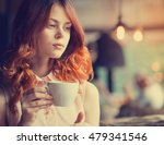woman in a cafe. young... | Shutterstock . vector #479341546