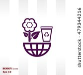 throw away the trash icon ... | Shutterstock .eps vector #479344216