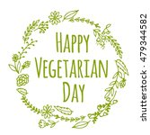 vegan product label. world... | Shutterstock .eps vector #479344582