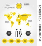yellow infographic template... | Shutterstock .eps vector #479350606