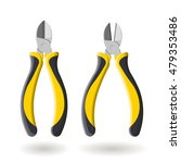 set of two yellow side cutters  ... | Shutterstock .eps vector #479353486