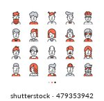 set of icons people avatars for ... | Shutterstock .eps vector #479353942