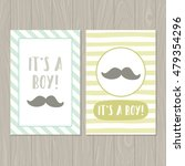 it's a boy. set of two cards... | Shutterstock .eps vector #479354296