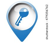 map pin symbol with key icon.... | Shutterstock .eps vector #479356762