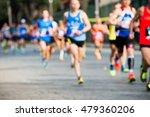 runners in marathon abstract ...   Shutterstock . vector #479360206