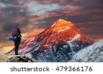 evening colored view of mount... | Shutterstock . vector #479366176