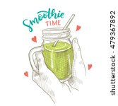 Smoothie Time  Vector Sketch...