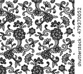 black and white lace design... | Shutterstock .eps vector #479370052