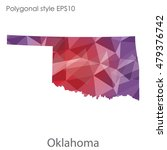 oklahoma state map in geometric ... | Shutterstock .eps vector #479376742