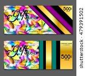 gift voucher. vector ... | Shutterstock .eps vector #479391502