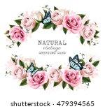 natural vintage greeting frame...   Shutterstock .eps vector #479394565