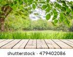 empty wooden table with garden... | Shutterstock . vector #479402086