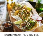 authentic mexican street tacos... | Shutterstock . vector #479402116