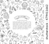 hand drawn doodle autumn icons... | Shutterstock .eps vector #479411662