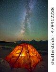 Camping Night At Grand Teton