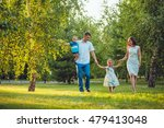 happy young family of four... | Shutterstock . vector #479413048
