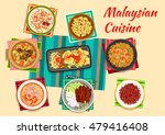 malaysian cuisine icon with... | Shutterstock .eps vector #479416408