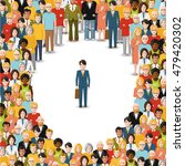 one man stayed in crowd ... | Shutterstock .eps vector #479420302