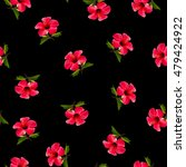 red tropical flowers pattern.... | Shutterstock . vector #479424922