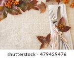 thanksgiving autumn fall table... | Shutterstock . vector #479429476