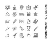 school outline icon set... | Shutterstock . vector #479430628