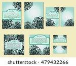 pastel green set of brochures ... | Shutterstock .eps vector #479432266