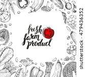 template card. hand drawn... | Shutterstock .eps vector #479436352