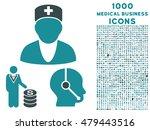 medical business vector bicolor ... | Shutterstock .eps vector #479443516