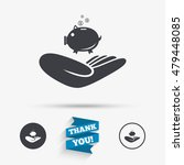 donation hand sign icon. hand... | Shutterstock .eps vector #479448085