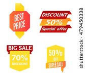 color sale banner set. flat... | Shutterstock .eps vector #479450338