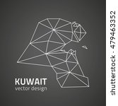 kuwait vector black outline... | Shutterstock .eps vector #479463352