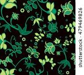 dark green flower seamless... | Shutterstock .eps vector #479469826