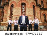 young groom and his funny... | Shutterstock . vector #479471332