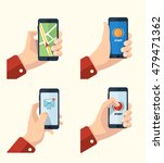 pictures set of hands with... | Shutterstock . vector #479471362