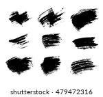 grunge brushes texture white... | Shutterstock .eps vector #479472316