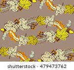 seamless doodle vector pattern... | Shutterstock .eps vector #479473762
