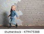 cute toddler girl posing... | Shutterstock . vector #479475388