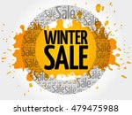 winter sale words cloud ... | Shutterstock .eps vector #479475988