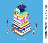 isometric education graduation... | Shutterstock .eps vector #479477782