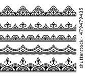 set of seamless borders for... | Shutterstock .eps vector #479479435